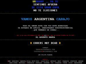 Hackeada a horas del partido entre Uruguay y Argentina